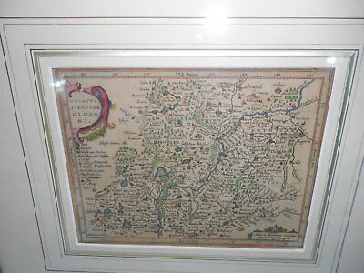 "c1648 Kupferstich Map of Silesia aus Mercators ""Atlas Minor"" gerahmt hinter Glas"