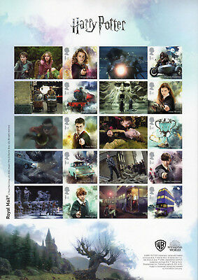 2018 HARRY POTTER SMILERS COLLECTORS SHEET Mint  A4 SIZED