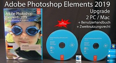 Adobe Photoshop Elements 2019 Upgrade Box + DVD Win/Mac + Anleitung OVP NEU