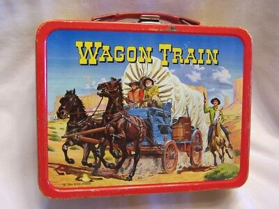 1964 Wagon Train King Seeley Lunchbox Very Good Condition