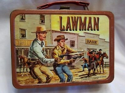 1961 Lawman King Seeley Steel Lunchbox Very Good Condition