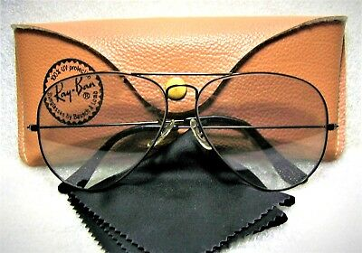 Ray-Ban USA NOS Vintage B&L Aviator Blue Super-Changeable 62 Lens New Sunglasses