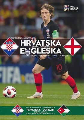 CROATIA v England (UEFA Nations League 12/10) 2018 Official match programme