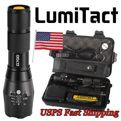 Bright 10000lm Genuine Lumitact G700 L2 LED Tactical Flashlight Military Torch