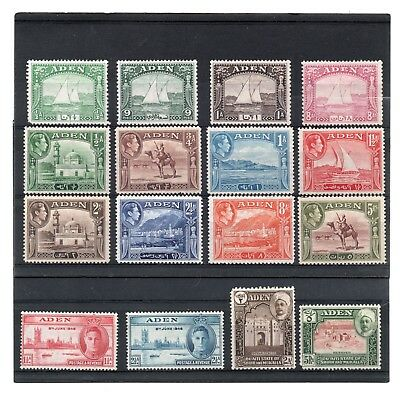 Aden 1937-46 Eclectic sel. 16 values to 5r H.Mint/HH.Mint