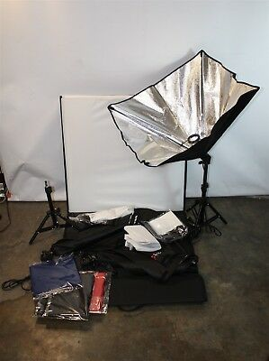 """Fotodiox Softbox Lighting Kit w/ 3 24"""" Softboxes, 2 Stands 18"""", 1 Lightbox 28"""""""