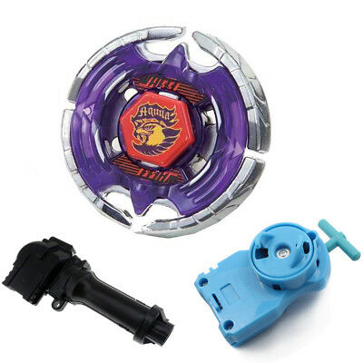 Children BB47 Metal Earth Eagle Fusion Masters  Beyblade With Handle Launcher