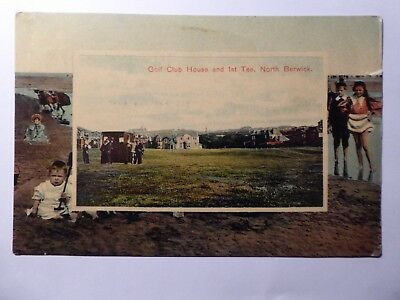 East Lothian. West Course At North Berwick. 1st Tee And Club House.  1910.