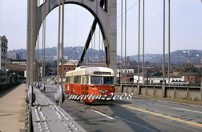 Orig. Traction / Trolley Slide Prc (Pittsburgh, Pa) 1697