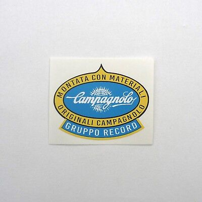 x2 Reproduction 1950s 60s Campagnolo Globe Frame Decal Brand New Vintage Eroica