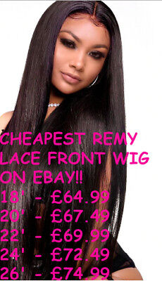 Brazilian/Peruvian Remy Human Hair Lace Front Wig - FREE NXT DAY DEL&MINI GIFT!