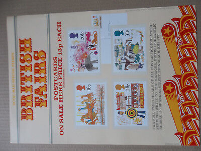 Royal Mail A3 Post Office Poster 1983 British Fairs Circus Phq Postcards