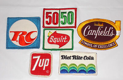 Vintage Lot Of Mixed Soda ? Beverage Patches ....new 1970-1972