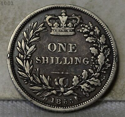 """1855 Great Britain One Shilling """"VF"""" *Free S/H After 1st Item*"""