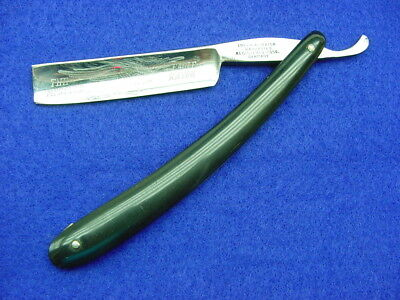 """Vintage Imperial """"improved Eagle"""" Straight Razor, Etched Blade Black Scales, Wow"""