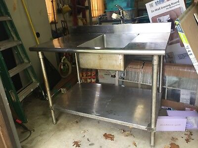 commercial stainless steel kitchen utility sink