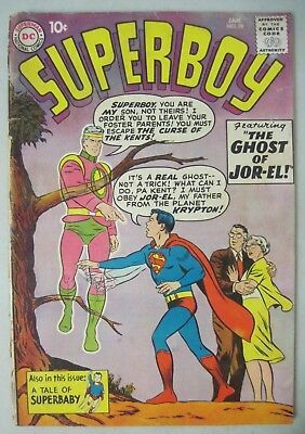 "Superboy #78 January 1960 Dc Comics ""the Ghost Of Jor-El!"" From Planet Krypton"