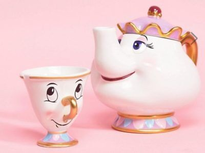 Mrs Potts Tea Pot and Chip Cup Set / From Beauty and the Beast