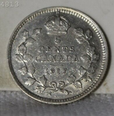 1917 Canada 5 Cents *Free S/H After 1st Item*