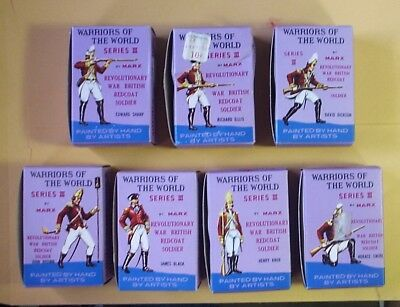 Lot of 7 MARX Warriors of the World Revolutionary Soldier With Box SHIPS 4 FREE