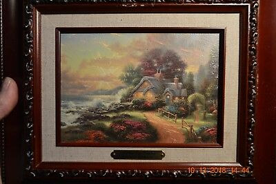 "#1)  Thomas Kinkade    ""a New Day Dawning""   Accent  Print * Art Artist"