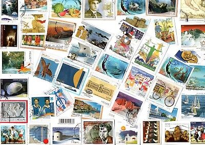 A  Fresh New Selection Of All Euro Kiloware Stamps From Greece