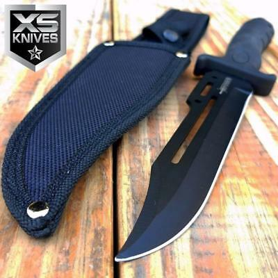 """10.5"""" MILITARY Fixed Blade Hunting Tactical COMBAT SURVIVAL KNIFE BOWIE w/Sheath"""