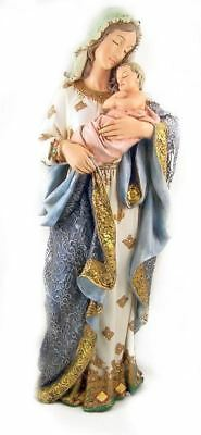 """Church Size 23"""" Our Lady Virgin Mary Madonna & Child Figure Statue"""