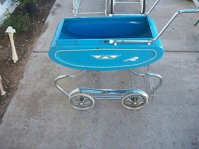 Vintage Tin Carriage  Baby Stroller  Buggie  FREE shipping