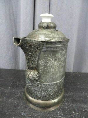 Pairpoint John O'Connor Antique Silver P. 19th Century Beverage Pitcher Engraved