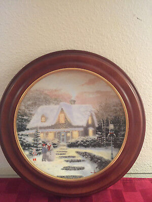 Thomas Kinkade Collector Plate Home for the Holidays Home to Grandma's KNOWLES