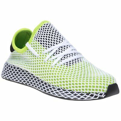 17c823e9b25f8 New Mens adidas Green Yellow Deerupt Runner Nylon Trainers Running Style  Lace Up