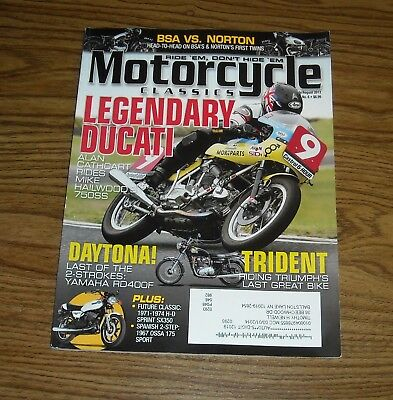 MOTORCYCLE CLASSICS Magazine July/August 2013 Mike Hailwood's DUCATI 750SS