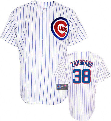 RARE~Majestic CHICAGO CUBS ZAMBRANO MLB Baseball Jersey shirt top~Mens sz XL