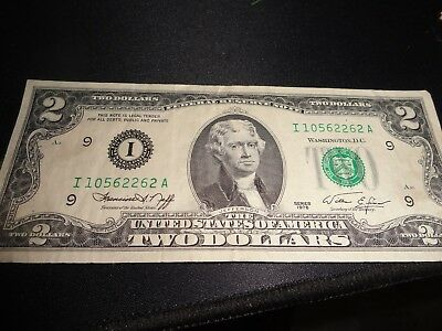 1976 Thomas Jefferson Two Dollar Bill Usa America Us $2