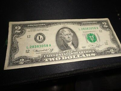 Series 1976 $2 TWO DOLLAR BILL US CURRENCY CIRCULATED