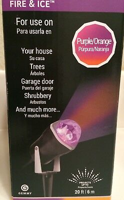 Gemmy Led Lightshow  Projector  Fire & Ice Swirling Halloween Light Up To 20 Ft.