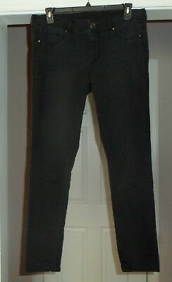 Womens MAURICES Stretchy Lightweight Slim Skinny Black Jeans Jegging Size 16 R
