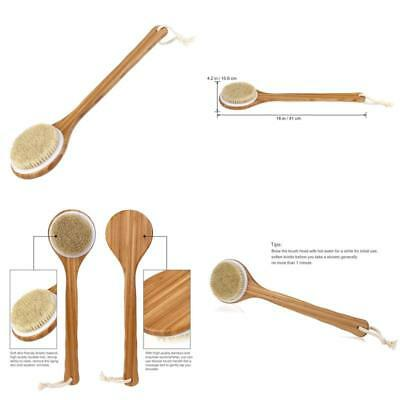 Tinksky Body Brush Back Scrubber Bath Brush With Long Bamboo Handle