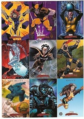 2007 Marvel Masterpieces X-Men Completo 9-CARD Inserto Chase Set