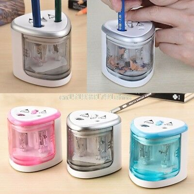 Electric Pencil Sharpener Automatic Battery Operated Powered USB Desktop Office