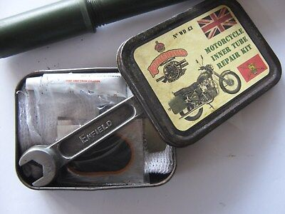 Royal Enfield Army Motorcycle Vintage Spanner,  Toolkit Pump And Puncture Kit