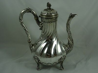 STUNNING , FRENCH, solid silver COFFEE POT, c1880, 644gm