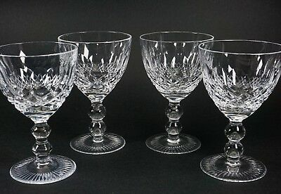 Pasco Elmwood Claret Wine Glass Crystal Stem - Set of 4 - Perfect Condition