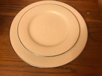 Noritake Ivory Affection Dinner/Salad Plate Combo (Multiple Sets Available)