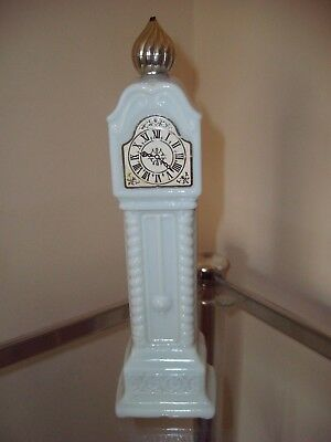Vintage Avon Long Case Clock Shaped Glass Fragrance Bottle - Great Collectable!