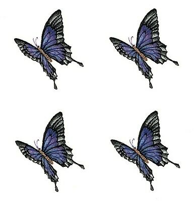 "Butterflies Purple 12 pcs  3/4"" X 5/8"" Waterslide Ceramic Decals Xx"