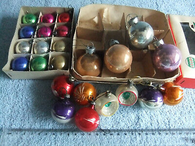JOBLOT of ASSORTED OLD/VINTAGE GLASS CHRISTMAS TREE BAUBLES COLLECTABLE