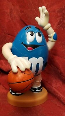 M & M Peanut Blue Basketball Player Candy Dispenser.  Estate Find,