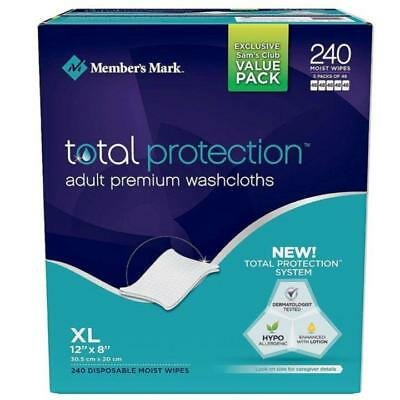 Member's Mark Premium Adult Washcloths (240 Ct.) FREE SHIPPING!!